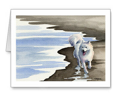 SAMOYED Set of 10 Note Cards With Envelopes