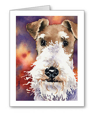 WIRE FOX TERRIER Set of 10 Note Cards With Envelopes