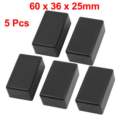5x Waterproof Plastic Electric Project Case Junction Box 60mmx36mmx25mm