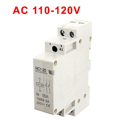 110V-120V Coil Volt 16A 2 Pole Electric Power AC Contactor Block