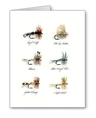 DRY FLIES Set of 10 Note Cards With Envelopes
