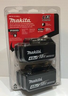 Makita Retail New BL1840-2 18V LXT Lithium Ion Genuine 2 Battery Blister Pack