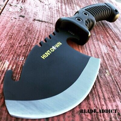 "10.5"" TACTICAL SURVIVAL TOMAHAWK THROWING AXE BATTLE Hatchet knife hunting BLACK"