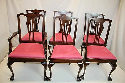 Exceptional English Mahogany Dining Chairs 5 Sides &1 with Arms, c.1920s' Ready!