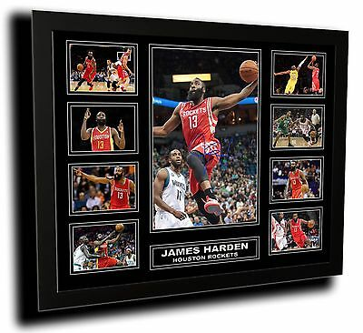 James Harden Houston Rockets Signed Limited Edition Framed Memorabilia