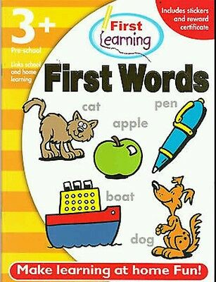 First Words 3+Early Years Learning NEW Pre-School Cheapest Activity Sticker Book