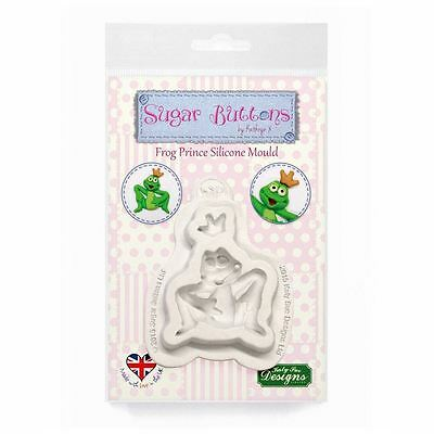 Sugar Buttons Cupcake Fondant Icing Embellishment Mould: Frog Prince
