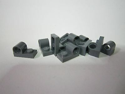 Lego 5 New White Plates Modified 1 x 2 with Pin Hole on Top Pieces