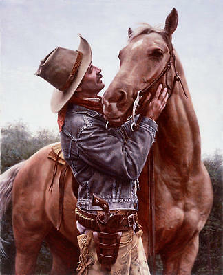 """""""A Few Kind Words"""" Don Stivers Limited Edition Artist Proof Giclee Print"""