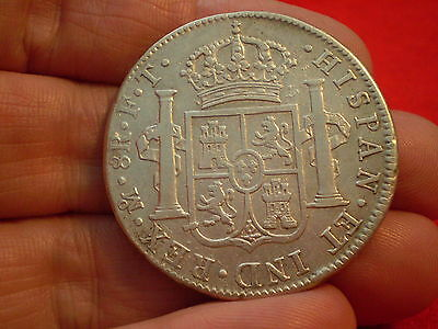 Superb 1803 Mexico Mint MOFT Carolus 1111 Silver Spanish 8 Reales- nice :)