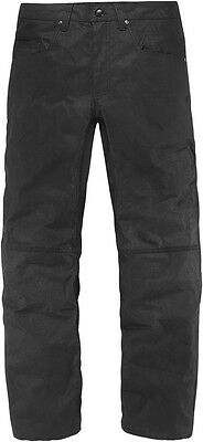 ICON 1000 Royal Drive Waxed Canvas Motorcycle Pants (Stealth/Black) Choose Size