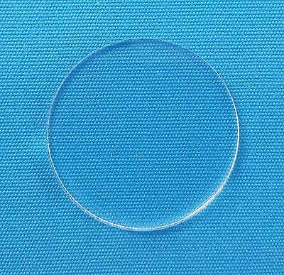 """50 Clear Circle Acrylic 2.5"""" Blank Discs 1/16"""" Thick Round Shapes Acrylic Shapes"""
