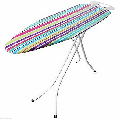 Extra Large Wide Light Weight Steel Home Adjustabe Rack Ironing Board 122X38cm