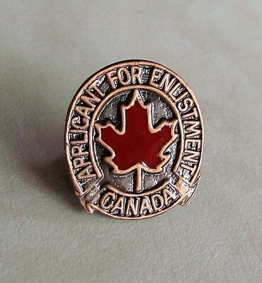 Canadian Forces Applicant for Enlistment English and French Pin WWII Replica