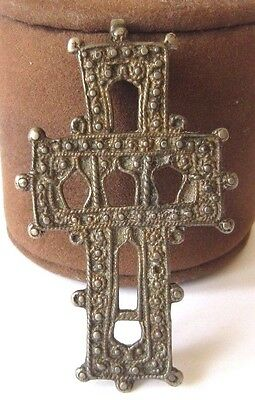 POST MEDIEVAL 'RELIQUARY' CROSS PENDANT SILVER-ALLOY c.12th-17th CENTURY # 113