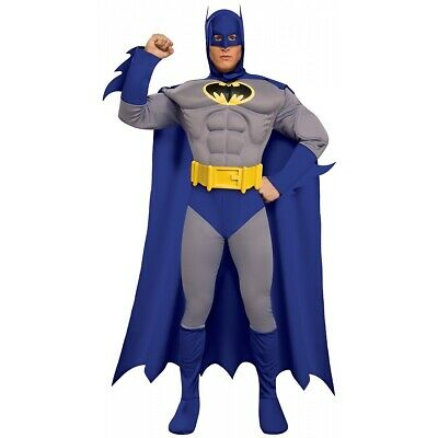 Batman Costume Adult Mens Superhero Halloween Fancy Dress