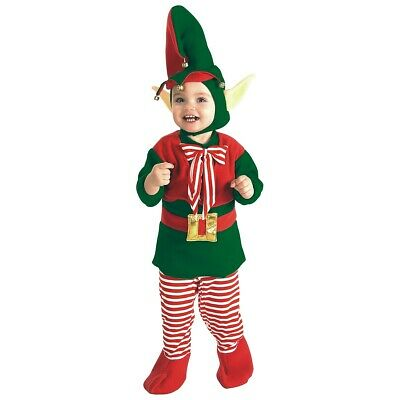 Baby Elf Costume Infant/Toddler Christmas Santa's Lil' Helper Fancy Dress Outfit