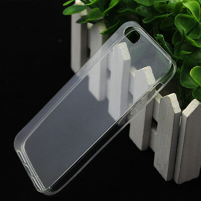 For iPhone 4S 5S Soft Silicone TPU Ultra Thin Slim Clear Transparent Cover Case