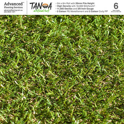 Artificial Turf Astro Turf Synthetic Grass 20mm 12 SQM Quad Colour Lawn Plastic