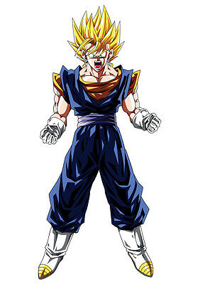 Sticker Poster Manga Dragon Ball Z. Bejito-Vegeto Super Sayan  Saga Dbz .a4