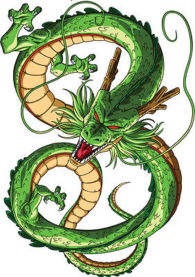 Sticker Poster Manga Dragon Ball Z.dragon Shenron Terre Saga Dbz. Format A4