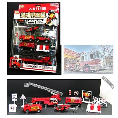 KUKUS Fire Rescue Die-cast Miniature 13 PCS