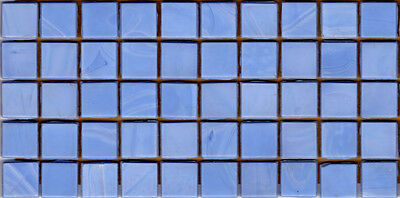 50pcs N62 Light Periwinkle Natura Opaque Glass Mosaic Tiles 15x15x4mm Paperfaced