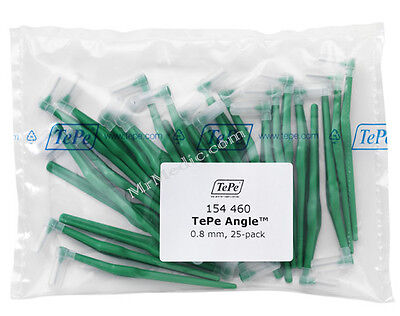 TePe Angle Green 0.8mm Interdental Brush - Pack of 25 Brushes