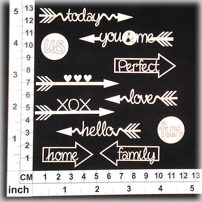 Chipboard Embellishments for Scrapbooking, Cardmaking - Assorted Words 236105w