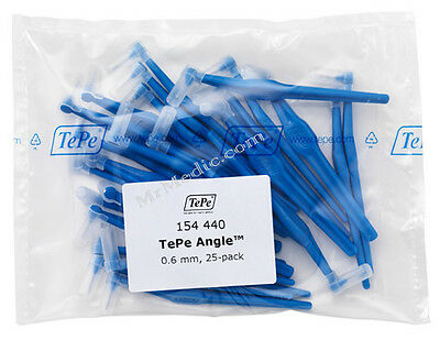 TePe Angle Blue 0.6mm Interdental Brush - Pack of 25 Brushes