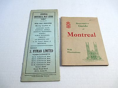 2 Vintage Montreal Canada Maps & Guide Books