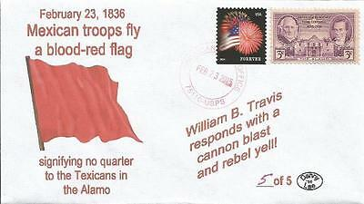 VERY LAST 23 Feb 1836 Mexicans Fly Blood-Red Flag No Quarter Alamo #5of 5 Cover