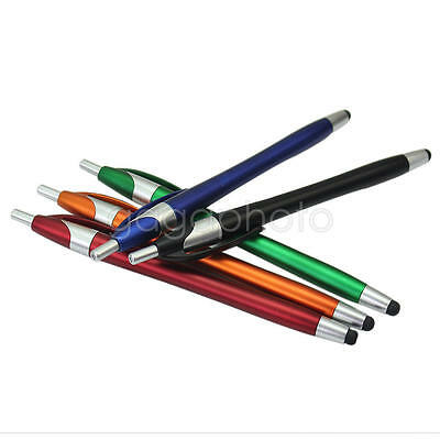 5x Touch Screen Stylus + Ballpoint Pen 2 in 1 for iPhone iPad Tablet PC Samsung