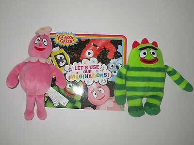 Yo Gabba Gabba Book & Plush Bundle ~ Foofa & Brobee
