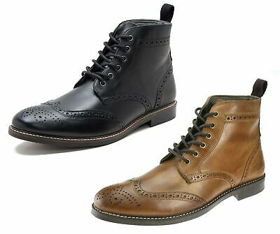 Red Tape Glaven Brogue Lace Up Leather Mens Boots