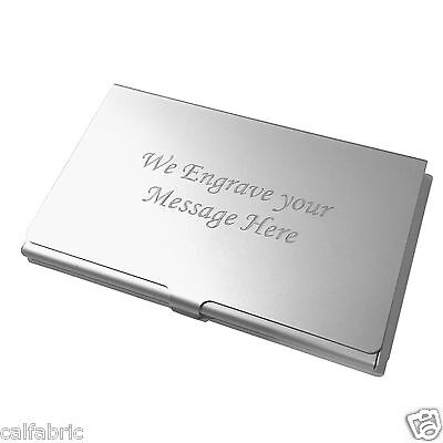 Custom Engraved Business Card Holder Credit Card Holder
