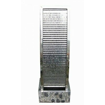 Havana Large Rippled Stainless Steel Water Feature