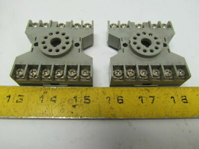 Square D 8501 Type NR61 300V NOS Relay Sockets Lot of 2