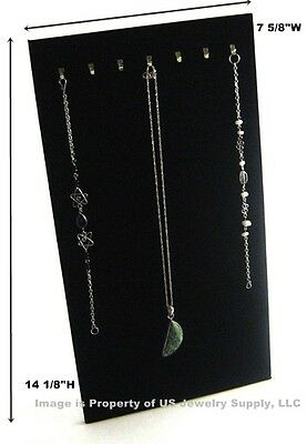 "1 Black 7 Hook Necklace Pendant Easel Back Jewelry Display 7 5/8""W x 14 1/8""H"