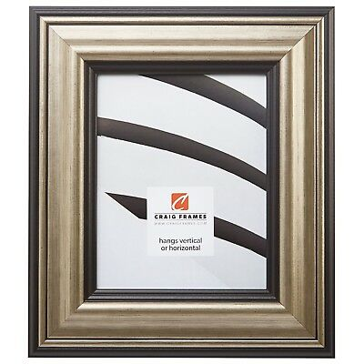 """Craig Frames 3.0"""" Sonora, Aged Silver and Black Picture Frame"""