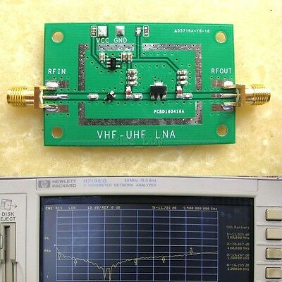 50MHz-2.5GHz Broadband Low Noise RF Receiver Amplifier Signal Amplifier VHF UHF