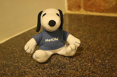 New Metlife Insurance Peanuts Snoopy With Blue Shirt Plush