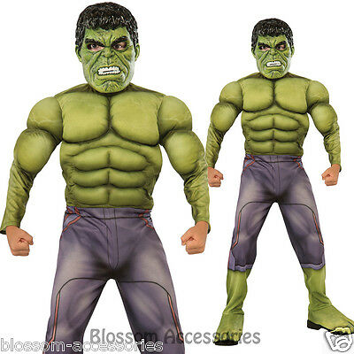 CK414 Child Deluxe Incredible Hulk Age Of Ultron Avengers Boys Fancy Costume