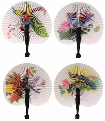 Chinese paper folding hand fans floral fancy dress hen party wedding favours lot