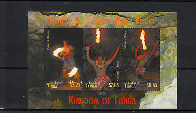 Tonga 2013 MNH Native Fire Dance Hina's Cave 3v M/S Cultures Ethnicities Oholei