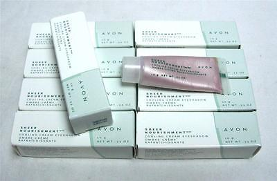 Lot Of 10 Avon Sheer Nourishment Heather Pink Cooling Cream Eyeshadow Makeup B-2