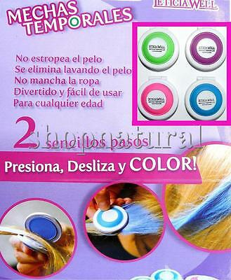 TIZAS PARA TEÑIR EL PELO MECHAS TEMPORALES x4 COLORES TEMPORARY HAIR CHALK TOOLS
