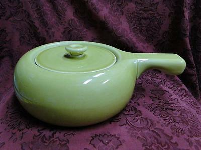 Steubenville Russel Wright, Chartreuse: Round Casserole w/ Handle & Lid, As Is
