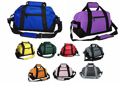 Two Tone Duffle Duffel Bag Bags Travel Sport Gym Carry On Luggage 14""