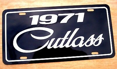 1971 Oldsmobile Cutlass license plate tag 71 Olds 455 Rallye 350 sx muscle car